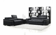 Black Italian Design 3-Pc Modern Sofa Set VGMB1031-SET