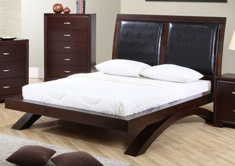 Raven Bed With Upholstered Headboard Furniture 4 Less