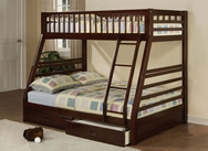 Jason Espresso Finish Twin/Full Bunk Bed A-02020-BB