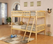 Natural Finish Bunk Bed A-00514-BB