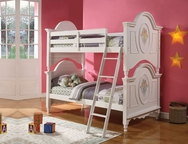 Flora White Bunk Bed A-01730-BB