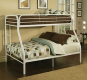 "2"" Tube Twin/Full Bunk Bed A-02053-BB"