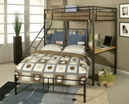 Twin/Full Bunk Bed w/Study Desk A-02030-BB