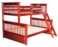 Twin/Full Mission Bunk Bed C-1780-BB