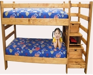 Twin/Twin Bunkbed with Drawers P-777-BBD