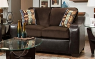 Bicast with Velvet Loveseat C-7000L