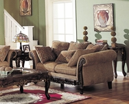 Bordeaux Chenille Fabric Loveseat A-05601-L