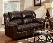 Brandon Brown Reclining Loveseat P-1000B-L