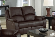 Caray Espresso Bonded Leather Reclining Loveseat A-15210-L
