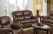 Fullerton Brown Bonded Leather Match Finish Motion Loveseat A-50010-L