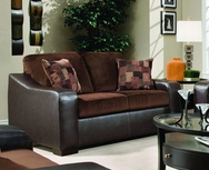 London Walnut/Chocolate Loveseat P-8250L