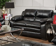 Soho Onyx Leather Loveseat P-5066L
