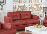 Soho Red Bonded Leather Loveseat A-15100-L