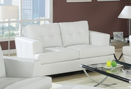 Soho White Bonded Leather Loveseat A-15096
