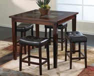 Deland 5-Pc Counter Height Dining Set W-F215-SET