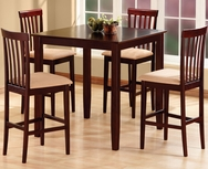 Espresso 5-Pc Pub Table Set W-8340-SET