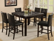 Black Marble Finish 5-Pc Pub Set W-8330MBK-SET