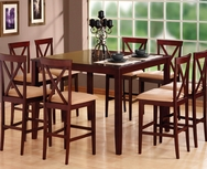 Espresso 5-Pc Pub Table Set W-8350-SET