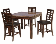 Hoffman Marble 5-Pc Pub Table Set C-67044ES-SET