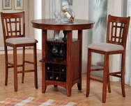 Round 3-Pc Bar Table Set W-3055-SET