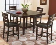 Bradford 5-Pc Counter Height Dining Set W-F241-SET