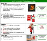 Fire Extinguisher Use - Work Instruction