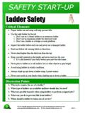 Ladder Use - Safety Start-Up