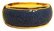 Robyn Brooks Stingray Hinge Bangle - Ocean