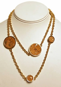Robyn Brooks Disk Necklace - Cork