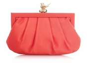Wilbur & Gussie Margot Clutch - Coral