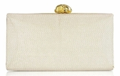 Wilbur & Gussie Violet Clutch - Cream Leather