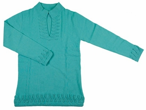 2 Bees Infinity Tunic Cashmere Sweater - Turquoise