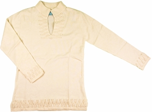 2 Bees Infinity Tunic Cashmere Sweater - Ivory