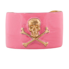 Wimberly Narrow Skull & Crossbones Cuff - Light Pink