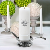 Personalized Color� Bliss Unity Candle Set - Round Pillar