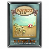 """Personalized """"Surfside"""" Pub Sign"""