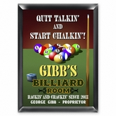 Personalized Billiards Sign