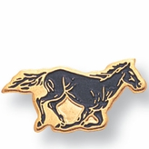 MUSTANG PIN ENAMELED