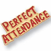 PERFECT ATTENDANCE PIN ENAMEL