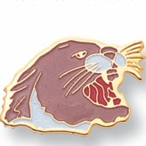 COUGAR PIN ENAMELED