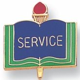 SERVICE PIN ENAMELED, ACADEMIC