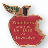 TEACHERS APPLE PIN