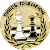CHESS CHAMPION PIN ENAMELED