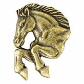 MUSTANG MASCOT ANTIQUE BRASS