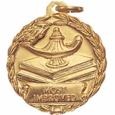 1-1/8 INCH MEDAL, MOST IMPROVED
