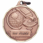 1 1/4 INCH 3RD PLACE MEDAL, BRONZE