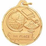 1-1/4 INCH 1ST PLACE MEDAL, GOLD