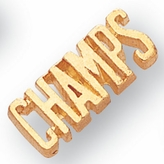 CHAMPS CHENILLE PIN GOLD