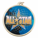ALL STAR MEDAL WITH 2 INCH MYLAR