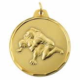 WRESTLING MEDAL - MULTIPLE COLORS